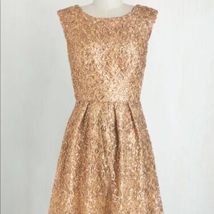 ModCloth Gold Sequin Dress size 6